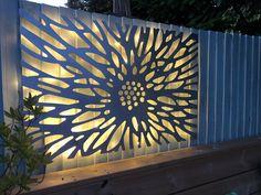Laser Cut Decorative Metal Wall Art Panel Sculpture for with optional lighting // Benbecula