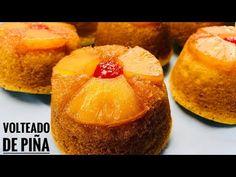 Como Hacer volteado de piña individual para venta y mesa de postres/mini volteado de piña casero - YouTube Chesee Cake, Bunt Cakes, Plum Cake, Muffin, Sin Gluten, Dessert Bars, Sweet Recipes, Bakery, Treats