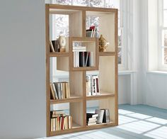 Raumteiler Maison 120x180 Natur & Weiss Sheesham Akazie