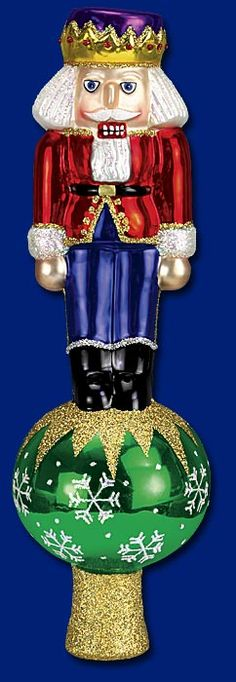 Nutcracker Tree Top,  Christmas Tree Topper  www.oldworldchristmas.com