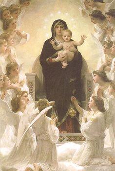 Imagen de Nuestra Señora de los Ángeles, una advocación de la Virgen María
