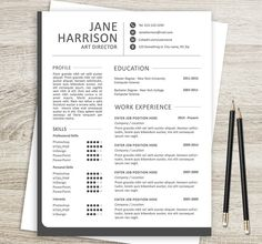 Resume And Cover Letter Templates In Word And PSD Formats And A4 - Resume Size Letter Or A4