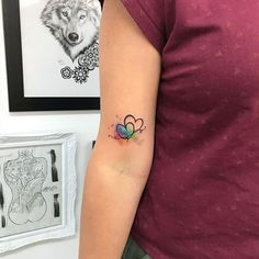 A permanent reminder of who you are and what you stand for, a Pride tattoo is one of the most inspiring tattoos you could get. In honor of Pride Month, we've 3 Hearts Tattoo, Heart Flower Tattoo, Watercolor Heart Tattoos, Small Watercolor Tattoo, Wrist Tattoos, Body Art Tattoos, Tatoos, Cute Tiny Tattoos, Small Tattoos