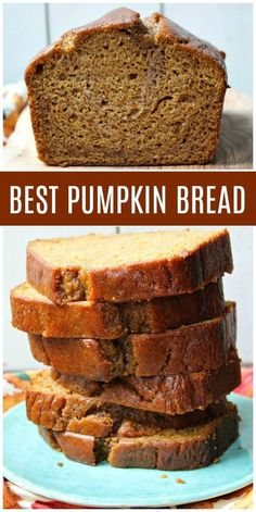 This is the Best Pumpkin Bread recipe ever It& incredibly moist and full of delicious spices too Photographs and howto video included - eye-makeup Loaf Recipes, Baking Recipes, Dessert Recipes, Easy Recipes, Recipes Dinner, Best Pumpkin Bread Recipe Ever, Recipe For Pumpkin Loaf, Pumpkin Bread Recipes, Easy Pumpkin Bread