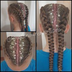 Festival hair inspiration Dutch braids. Boxer braids. Glitter hair. Glitter roots. Festival inspo.