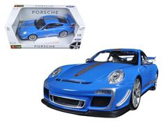 Porsche 911 GT3 RS 4.0 Blue 1/18 Diecast Car Model by Bburago