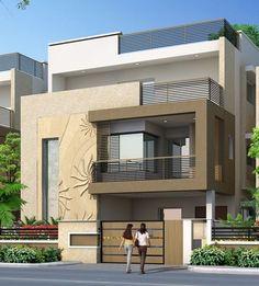 Exterior ideas house stones 22 ideas for 2019 Duplex House Design, House Front Design, House Design Photos, Modern House Design, Front Elevation Designs, House Elevation, Dream House Plans, Modern House Plans, Indian House Plans