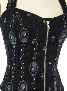 Love the skull cameos on the corset