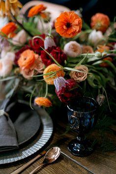 Fall jewel toned wedding inspiration  http://www.100layercake.com/blog/2015/10/05/fall-jewel-toned-wedding-inspiration/