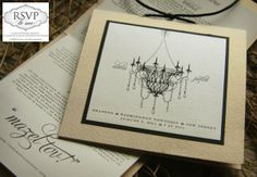 handmade wedding programs with chandaliers | Custom chandelier ceremony booklet program by ' RSVP to me '