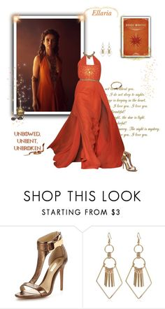 """Ellaria Sand - Game of Thrones"" by greerflower ❤ liked on Polyvore featuring Forever Unique and Lucky Brand"