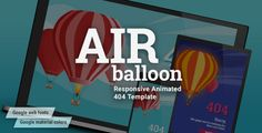 awesome AirBalloon - Animated Responsive Error 404 and Coming Quickly HTML5 Template (Specialty Pages)