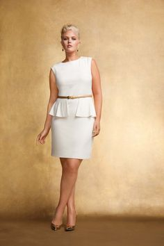 """Addition Elle, Plus Size, Trends, Silver, White, Curvy, Plus Size Clothing, Apparel""-this dress is great - even in white"