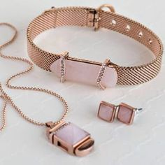 Rose quartz represents unconditional love. Wear this soft pink stone to attract or symbolize affection and compassion.