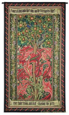 William Morris Woodpecker III Wall Tapestry