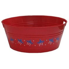 "17 3/4"" Patriotic Red Party Tub $4.99 /At Hobby Lobby"