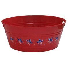 "17 3/4"" Patriotic Red Party Tub $4.99"