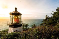 Another bit of a throwback to Cape Meares Lighthouse atop those ultra tall and ever stunning cliffs. The Oregon coast is full of beautiful sights like this one up and down it! If you ever get the chance this is one location of many to check out!!