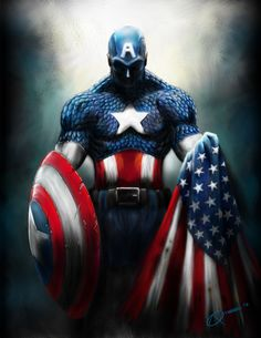 Captain America may be a Super Soldier wearing the red, white and blue, a symbol of American power in World War Two, and a defender of the weak and oppressed. But what does he mean in the modern age, and why does he matter today? Comic Book Characters, Comic Book Heroes, Marvel Characters, Comic Character, Comic Books Art, Comic Art, Marvel Comics, Heros Comics, Hq Marvel