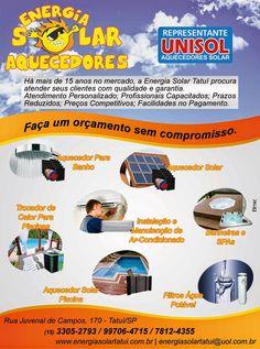JORNAL AÇÃO POLICIAL TATUÍ E REGIÃO ONLINE: Energia Solar Aquecedores - Rua. Juvenal de Campos, 170 Centro - Tatuí - SP tel: (15) 3305-2793 / 99706-4715 e-mail: energiasolartatui@uol.com.br Site: www.energiasolartatui.com.br