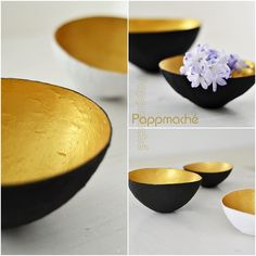 How to make these lovely bowls from papermache. Just hit the translation button.