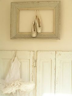 I would love to display my first pair of ballet shoes and my pointe shoes somehow...