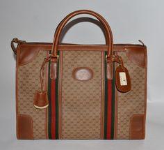 Gucci Vintage Suitcase Brown Travel Bag