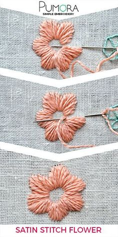 Flower embroidery day 5: satin stitch flower