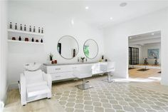 Monday scaries don't exist when you have your own glam room 💅🏼 Family Room, Home And Family, Entry Doors With Glass, Pantry Room, Stone Bath, Sliding Wall, Valley Road, Spring Valley, Glam Room