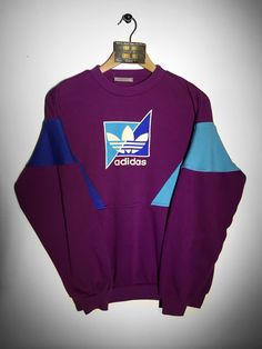 Adidas sweatshirt Size Small £36 Website➡️ www.retroreflex.uk #adidas #vintage #retro #oldschool #sweatshirt