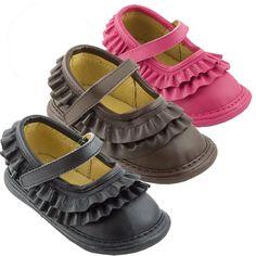 Amazon.com: Wee Squeak Baby Toddler Girls Ruffle Maryjane Shoes 3-12: Wee Squeak: Shoes
