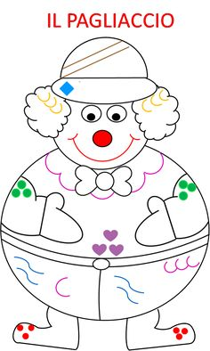 libricino – Page 2 – Maestramaria Mama Image, Clown Cirque, Toddler Crafts, Crafts For Kids, Clown Maske, Theme Carnaval, Clown Crafts, Clown Party, Clowning Around