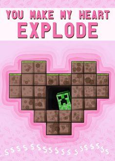 Best one yet! Minecraft Valentine!