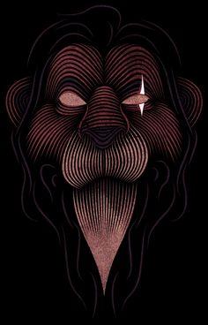Illustration | Scar (The Lion King Disney) by Patrick Seymour