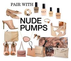 """""""Pair with Nude Pumps"""" by runway2street ❤ liked on Polyvore featuring Lauren Cecchi, Astrid Sarkissian, Christina Debs, Anne Sylvain, Skyler Man, De Siena, Lauren B. Beauty, Konstantina Tzovolou, Iala Díez and Hissia"""