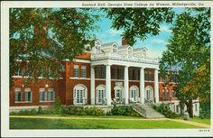 Sanford Hall, Georgia State College for Women, Milledgeville, Ga.- Front Side by GCSU Library Special Collections, via Flickr