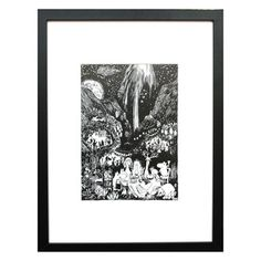 Have 2 blakc and white framed Moomin prints for Maja's room!   Prints & Paper — zanders and sons
