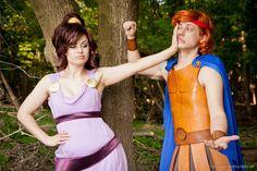 Megara & Hercules, cosplayed by koristarfire & avatarzara, photographed by elemental-sight