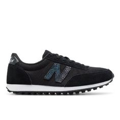 410 70s Running Suede Women's Running Classics Shoes - Black/White (WL410BL)