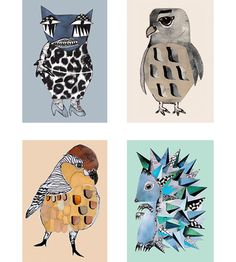 Pack of 4 illustrations size: A5  Hedgehog, Catlady, Falcon and Sparrow  Each illustration fits a standard size A5 frame  Shipped in a protective cardboard envelope  Danish artist Monika Petersen studied illustration at St Martins College of Art and Design UK. Following her graduation, she worked in London for several years before returning to Copenhagen where she is now based.  Her work has been featured in many magazines including Elle, cover and Rum. Her designs has also been ...