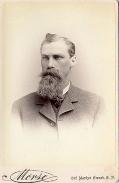 Vintage Cabinet Photograph Gentleman with Beard