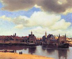 ■デルフトの眺望 (Gazicht op Delft) 1659-1660年 98,5×117,5cm | 油彩・画布 |  ハーグ(オランダ)マウリッツハイス美術館   http://www1.icnet.ne.jp/take/13.html