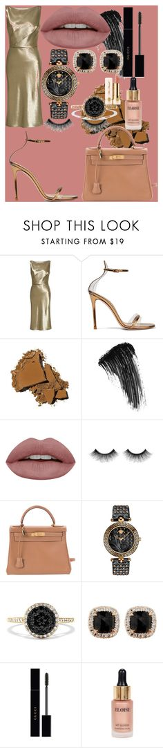 """endangered"" by samalbrycht on Polyvore featuring Nili Lotan, Gianvito Rossi, Bobbi Brown Cosmetics, Eyeko, Urban Decay, Hermès, Versace, Effy Jewelry, Jona and Gucci"