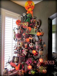 our 2013 halloween tree works of whimsy find this pin and more on nightmare before christmas decor