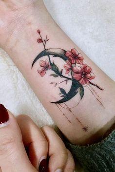 Aquarell Tattoo Design am Arm Little Tattoo For Girls, Cute Little Tattoos, Pretty Tattoos, Unique Tattoos, Beautiful Tattoos, Finger Tattoos, Body Art Tattoos, New Tattoos, Tattoos For Guys
