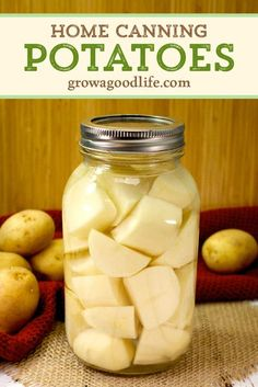 Pressure Canning Recipes, Canning Tips, Home Canning, Pressure Cooking, Canning Potatoes, Canning Vegetables, Recipe With Canned Potatoes, Canning Food Preservation, Preserving Food