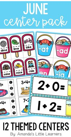 Save 50% when purchasing these summer themed centers in the bundle! Students will love practicing their math and literacy skills during the month of June! Games have shell, sun, and beach themes! This bundle of centers will make it easy for you to plan and prep a set of math and literacy centers to use during June. Saxon Phonics, Abc Phonics, Math Literacy, Literacy Skills, Phonics Centers, Ocean Crafts, Little Learners, Children's Literature, 4 Year Olds