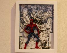 GEEK DIY BAM!: SPIDER-MAN ACTION FIGURE SHADOW BOX DISPLAY WALL ART DIY