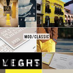 Danielle Colosimo Creative, Branding Mood Board, Neon Lemon, Taupe, Latte, White, Black, Coffee, Modern, Classic, Typography, Bold, Masculine, Brown, Yellow, Architecture