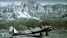 Bristol Blenheim at rest at a field in Greece